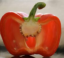 Backlit Pepper by Lois  Bryan