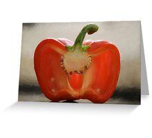 Backlit Pepper Greeting Card