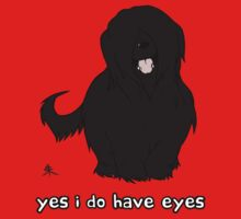 Black Briard - Yes, I have eyes. w/ TEXT Kids Clothes
