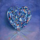 Blue heart jewel by Santamaria