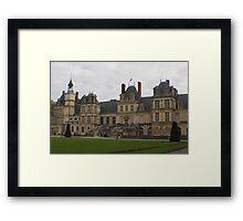 Chateau de Fontainebleau main entrance stairs Framed Print