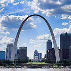 St Louis City Skyline. by barnsis