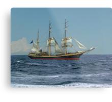 Under Short Sail Metal Print