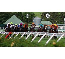 A day at the races - they're racing Photographic Print