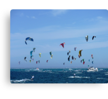 Kite surfers - Race from Rottenest to Cottesloe Canvas Print