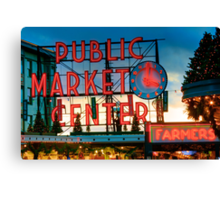 Pike Place Holidays Canvas Print