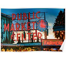 Pike Place Holidays Poster