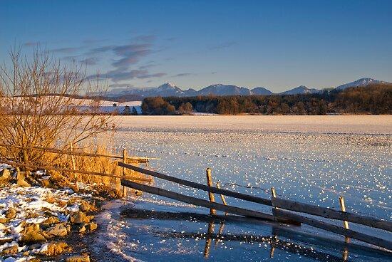 Winter Dusk on Lake Rieg by Kasia-D