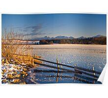 Winter Dusk on Lake Rieg Poster