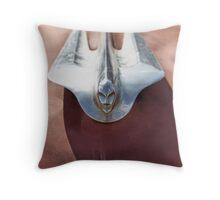 Cadillac Hood Ornament Throw Pillow