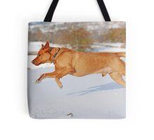 Fox Red Labrador In Action Tote Bag