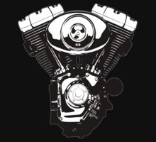 Harley engine by tastytees