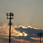 Sunset Over the Baseball Diamond by PixyKatStudios