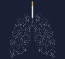 Two Lungs and One Smoking Cigarette by kaligraf