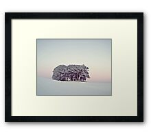 Pastels In The Scottish Snow. Framed Print