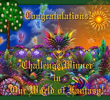 Our World of Fantasy Challenge Winner Banner by wolfepaw