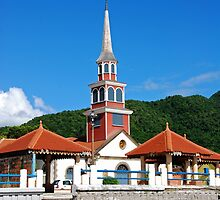 Church of Anse d'Arlet - Martinique, F.W.I. by Olivia Son