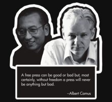 Julian Assange Liu Xiaobo by Groatsworth