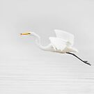 Flying Egret by Daniel  Parent