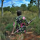 hunting for goanna by Rusty Stewart