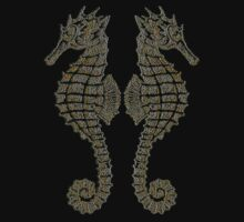 Vintage Tribal Sea Horses by taiche