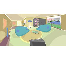 The living room '50s cartoon style Photographic Print