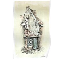 OLD DUTCH PICTURE - AQUAREL AND CONTE Poster
