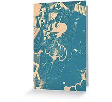 abstract graffiti sketch Greeting Card