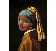 Barbie with a Plastic Earring Photographic Print