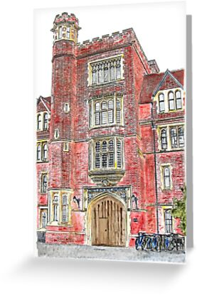 Porters Lodge at Selwyn College, Cambridge by Ian Bracey