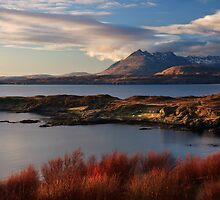 Cuillin Mountains from Tarskavaig, Isle of Skye, Scotland. by photosecosse /barbara jones