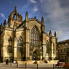 St Giles&#x27; Cathedral and Parliament Square by Christine Smith