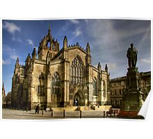 St Giles' Cathedral and Parliament Square Poster