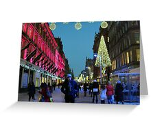 xmas glasgow 2010 Greeting Card
