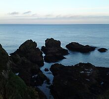 Seascape from Slains Castle, Aberdeenshire by JaneMerson