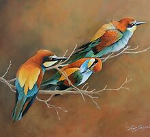 Bee Eaters by eric shepherd