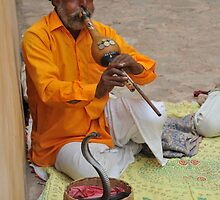 Snake charmer, Jaipur, India by Catherine Ames
