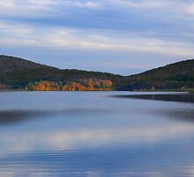 Autumn Evening Sky On Rose Valley Lake by Gene Walls
