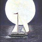 Lake Michigan full moon by Dan Wagner