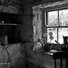 Winter Light - Irish Cottage Interior, County Down by Laura Butler
