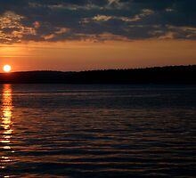 Sunset over Lake Jordan, North Carolina by sccaldwell