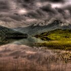 Low clouds over the Glen Finglas Reservoir by Gabor Pozsgai