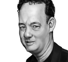 Tom Hanks Caricature by Omar Rodriguez