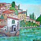 Nesso, Lake of Como by Teresa Dominici