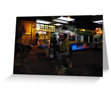 Reflections of Urban Street Life 134 Greeting Card