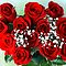 Boquet of red roses.Gift of love  by donna rae moratelli
