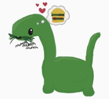 'Munch Munch Munch' - Dino by qtee