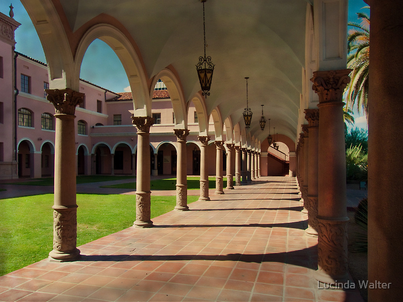 Arches & Columns of Pima County Courthouse by Lucinda Walter
