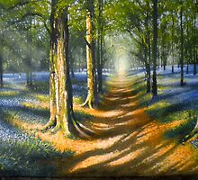`Bluebell Light` Acrylics on Canvas  by Stevie Gilmore