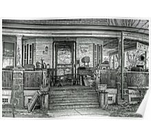 Antiques place- B&W Poster
